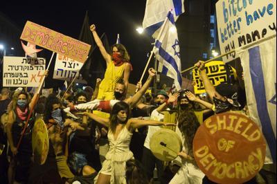 Демонстрация против правительства Нетаниягу, Иерусалим, 1 августа 2020 г.